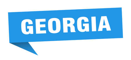 Georgia sticker. Blue Georgia signpost pointer sign