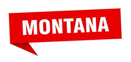 Montana sticker. Red Montana signpost pointer sign  イラスト・ベクター素材