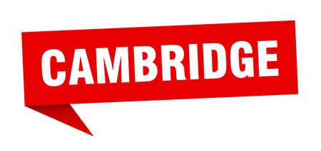 Cambridge sticker. Red Cambridge signpost pointer sign  イラスト・ベクター素材