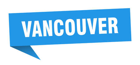 Vancouver sticker. Blue Vancouver signpost pointer sign