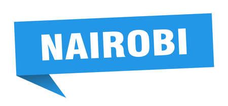 Nairobi sticker. Blue Nairobi signpost pointer sign  イラスト・ベクター素材