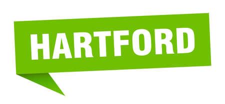 Hartford sticker. Green Hartford signpost pointer sign