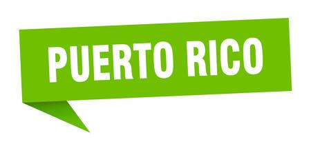 Puerto Rico sticker. Green Puerto Rico signpost pointer sign  イラスト・ベクター素材