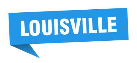 Louisville sticker. Blue Louisville signpost pointer sign  イラスト・ベクター素材