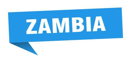 Zambia sticker. Blue Zambia signpost pointer sign  イラスト・ベクター素材