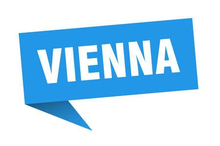Vienna sticker. Blue Vienna signpost pointer sign  イラスト・ベクター素材