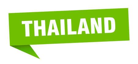 Thailand sticker. Green Thailand signpost pointer sign  イラスト・ベクター素材