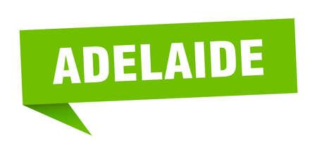 Adelaide sticker. Green Adelaide signpost pointer sign Illustration