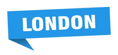 London sticker. Blue London signpost pointer sign