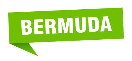 Bermuda sticker. Green Bermuda signpost pointer sign