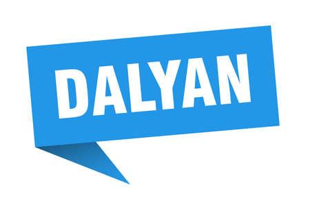 Dalyan sticker. Blue Dalyan signpost pointer sign  イラスト・ベクター素材