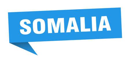 Somalia sticker. Blue Somalia signpost pointer sign  イラスト・ベクター素材