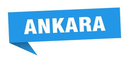 Ankara sticker. Blue Ankara signpost pointer sign