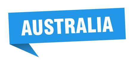 Australia sticker. Blue Australia signpost pointer sign