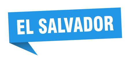El Salvador sticker. Blue El Salvador signpost pointer sign