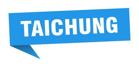 Taichung sticker. Blue Taichung signpost pointer sign Illusztráció