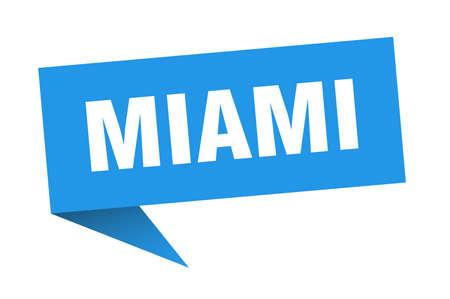 Miami sticker. Blue Miami signpost pointer sign