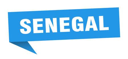 Senegal sticker. Blue Senegal signpost pointer sign Illusztráció