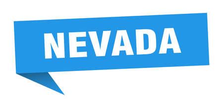 Nevada sticker. Blue Nevada signpost pointer sign