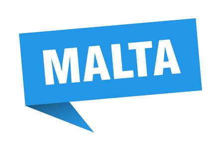 Malta sticker. Blue Malta signpost pointer sign 일러스트