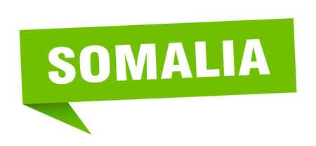 Somalia sticker. Green Somalia signpost pointer sign Illustration