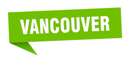 Vancouver sticker. Green Vancouver signpost pointer sign