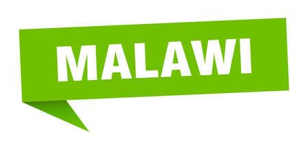 Malawi sticker. Green Malawi signpost pointer sign Illusztráció