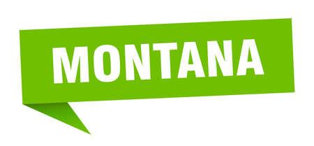 Montana sticker. Green Montana signpost pointer sign