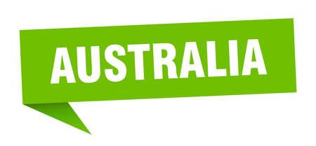 Australia sticker. Green Australia signpost pointer sign