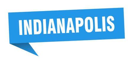 Indianapolis sticker. Blue Indianapolis signpost pointer sign