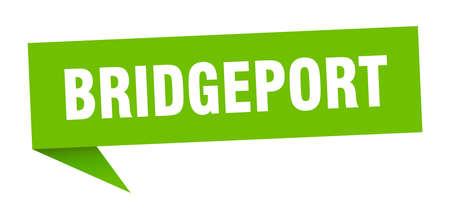 Bridgeport sticker. Green Bridgeport signpost pointer sign Illusztráció