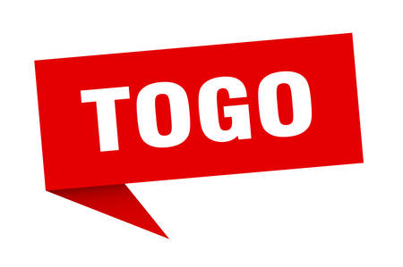 Togo sticker. Red Togo signpost pointer sign Illusztráció