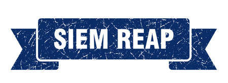 Siem Reap ribbon. Blue Siem Reap grunge band sign Ilustrace