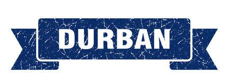 Durban ribbon. Blue Durban grunge band sign