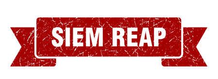 Siem Reap ribbon. Red Siem Reap grunge band sign