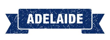 Adelaide ribbon. Blue Adelaide grunge band sign