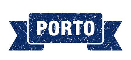 Porto ribbon. Blue Porto grunge band sign 向量圖像