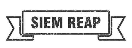 Siem Reap ribbon. Black Siem Reap grunge band sign