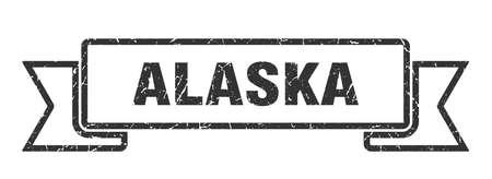Alaska ribbon. Black Alaska grunge band sign Иллюстрация