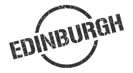 Edinburgh stamp. Edinburgh grunge round isolated sign