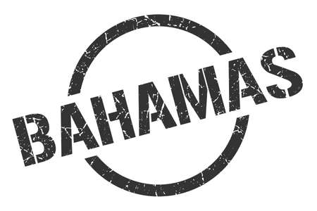 Bahamas stamp. Bahamas grunge round isolated sign