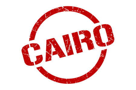 Cairo stamp. Cairo grunge round isolated sign Ilustrace