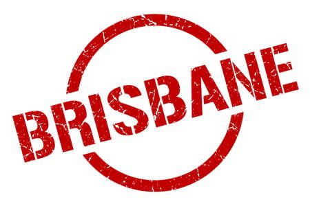 Brisbane stamp. Brisbane grunge round isolated sign
