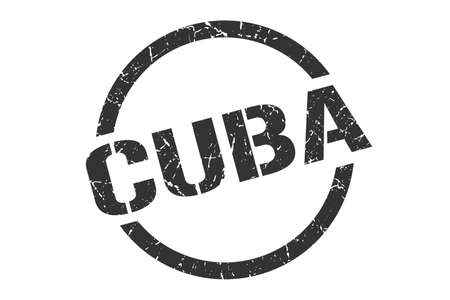 Cuba stamp. Cuba grunge round isolated sign