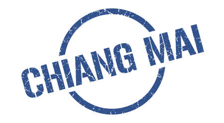 Chiang mai stamp. Chiang mai grunge round isolated sign