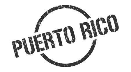 Puerto Rico stamp. Puerto Rico grunge round isolated sign Illustration