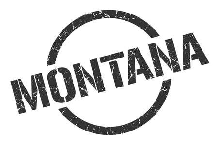 Montana stamp. Montana grunge round isolated sign  イラスト・ベクター素材