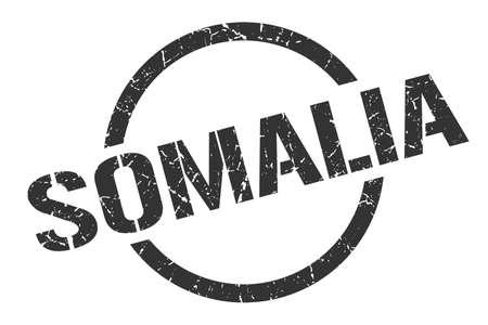 Somalia stamp. Somalia grunge round isolated sign Illustration