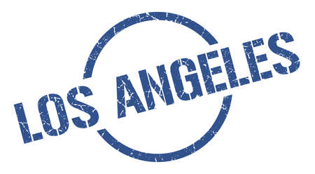 Los Angeles stamp. Los Angeles grunge round isolated sign 일러스트