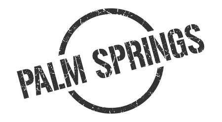 Palm Springs stamp. Palm Springs grunge round isolated sign Иллюстрация